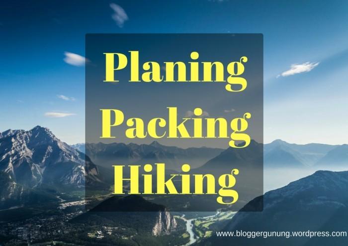 PlaningPackingHiking